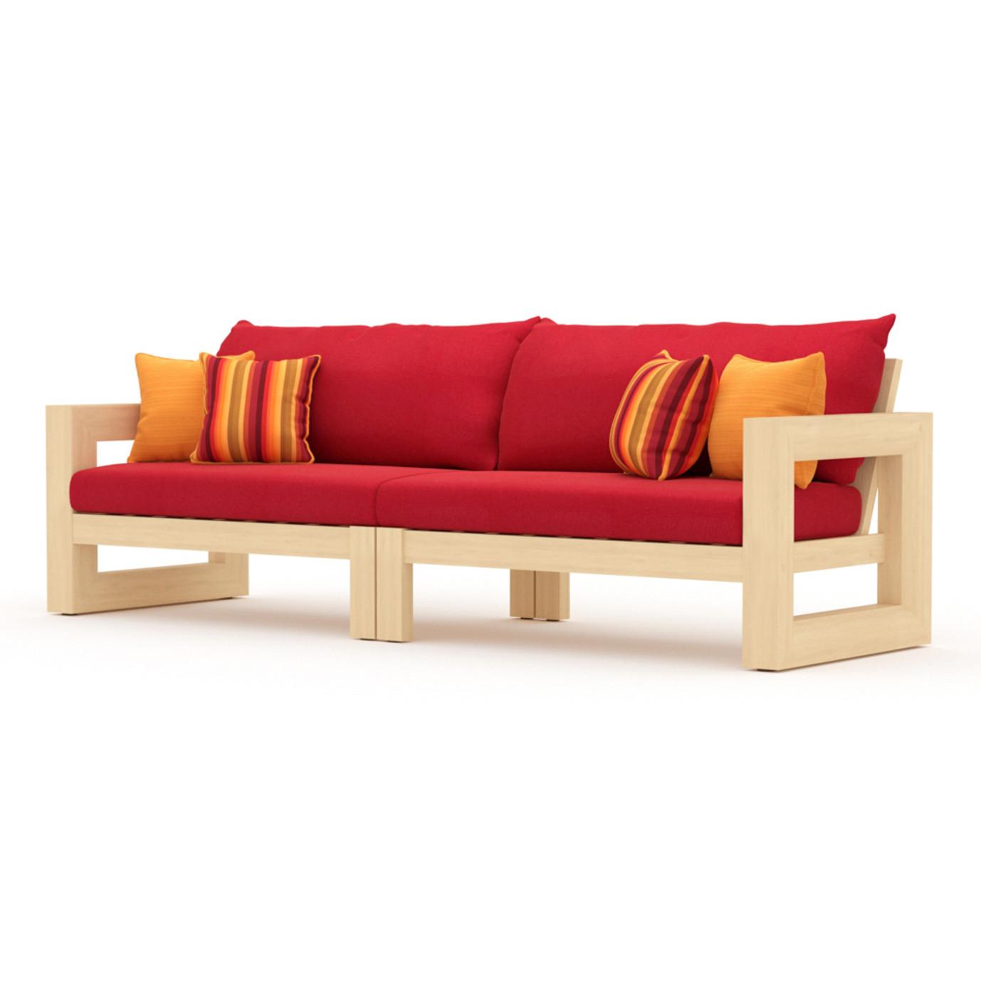 Benson 96in Sofa - Sunset Red