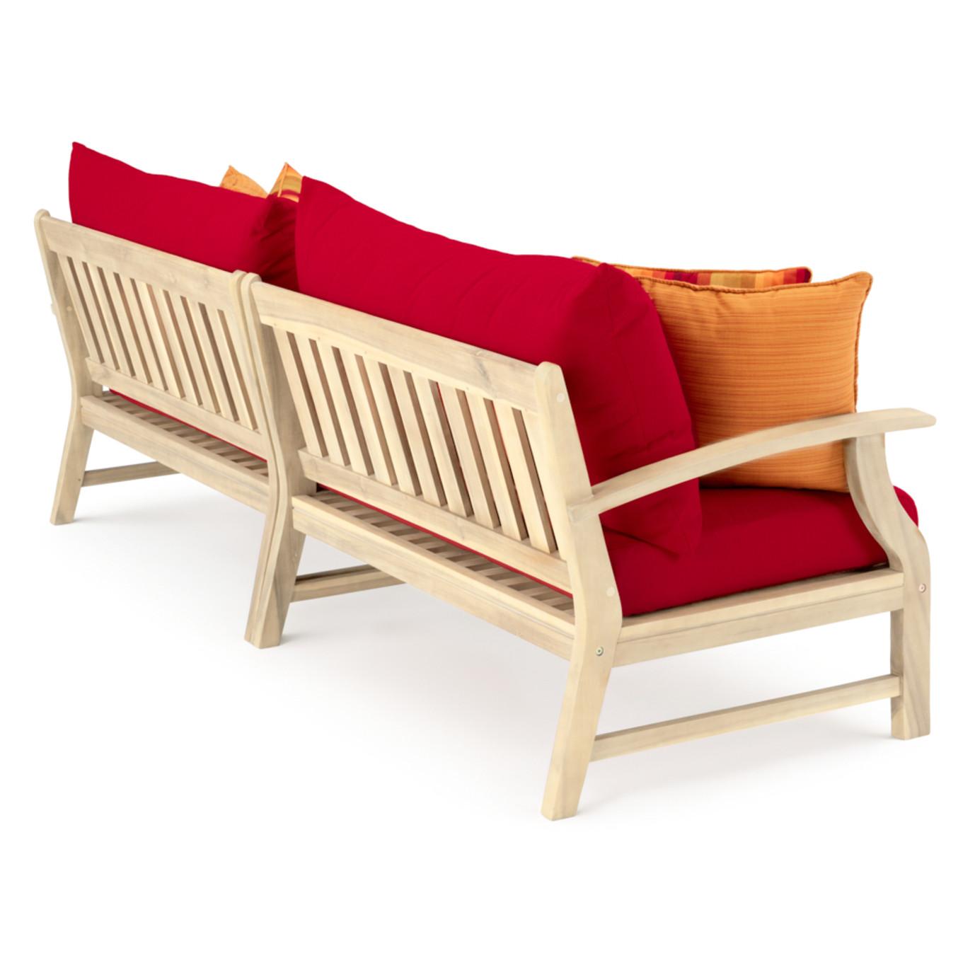 Kooper 96in Sofa - Sunset Red