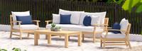 Kooper™ 4 Piece Outdoor Sofa & Club Chair Set - Bliss Ink