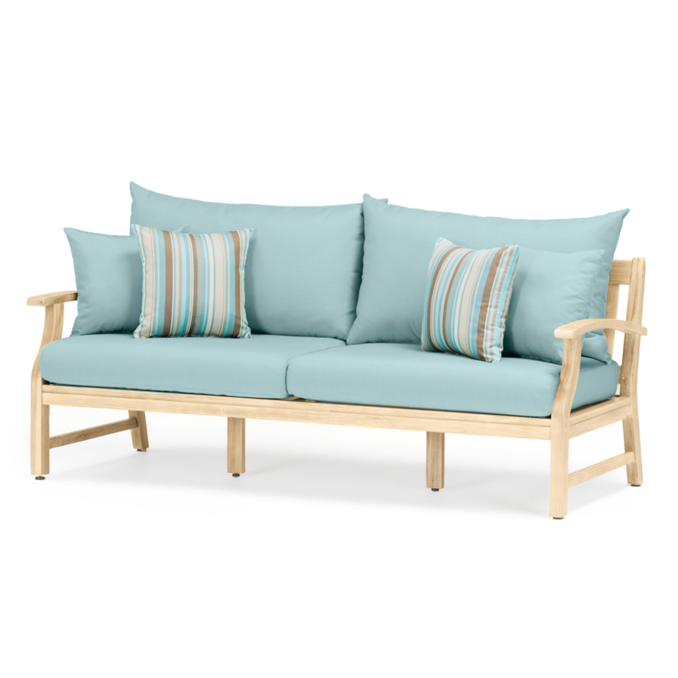 Kooper 4 Piece Outdoor Sofa & Club Chair Set - Bliss Blue