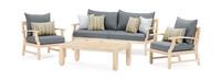 Kooper™ 4 Piece Outdoor Sofa & Club Chair Set - Charcoal Gray