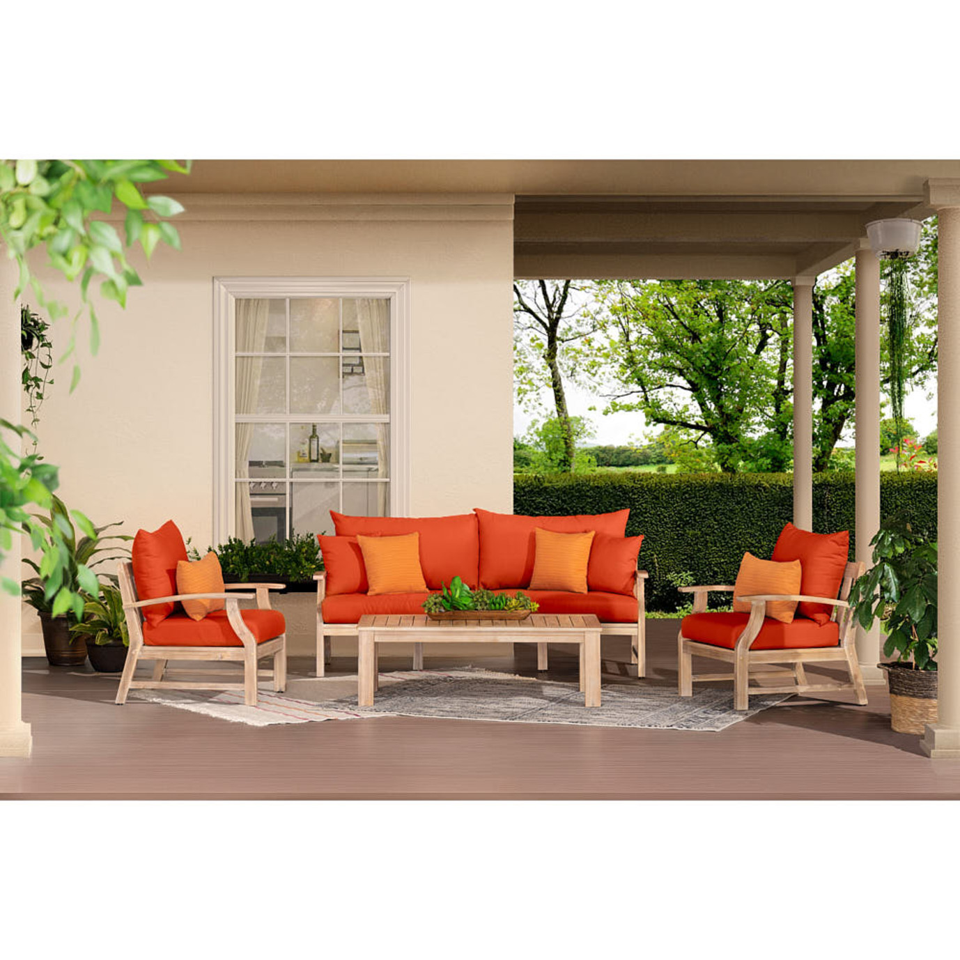 Kooper™ 4 Piece Outdoor Sofa & Club Chair Set - Navy Blue