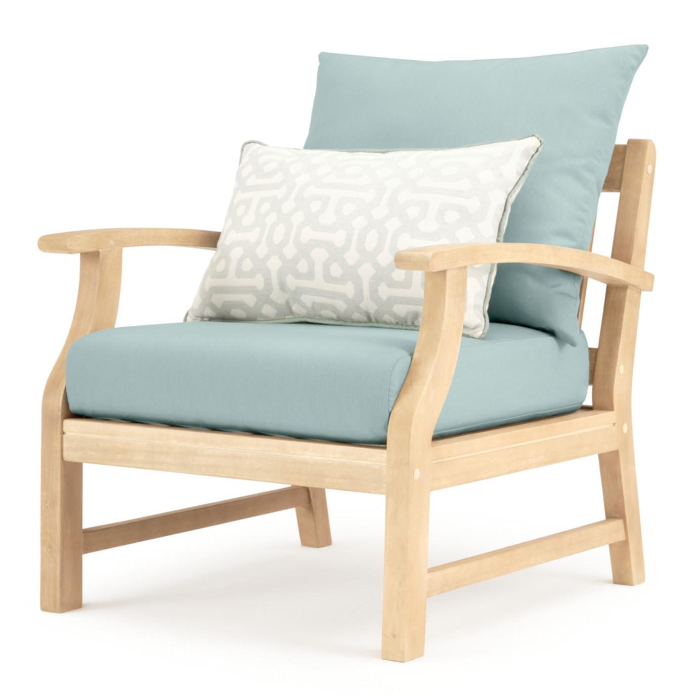 Kooper 4pc Outdoor Sofa & Club Chair Set - Spa Blue