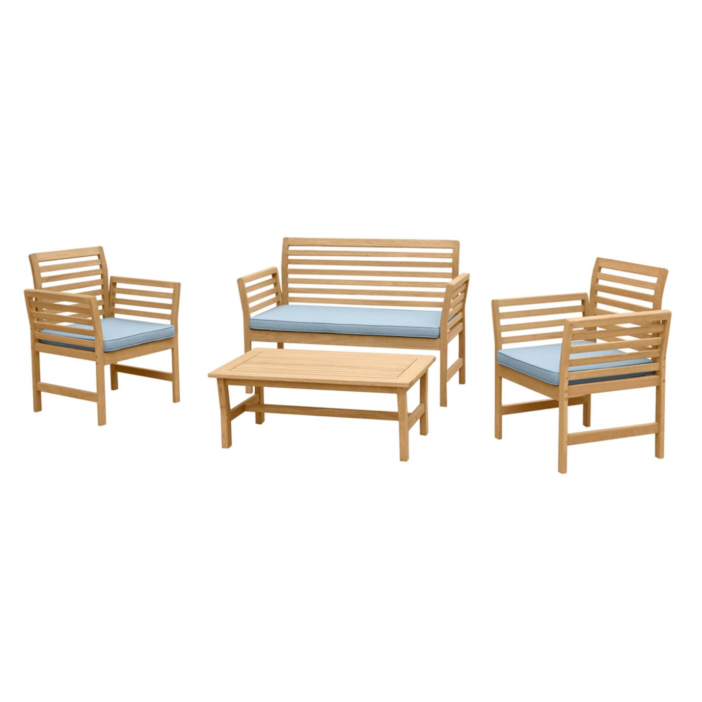Yuri 4pc Seating Set - Light Blue