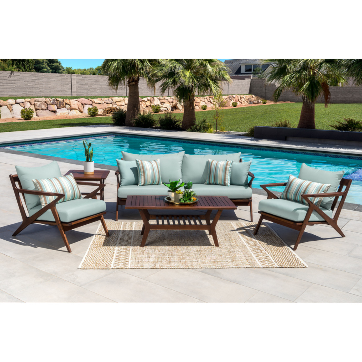Vaughn 5pc Seating Set - Bliss Blue