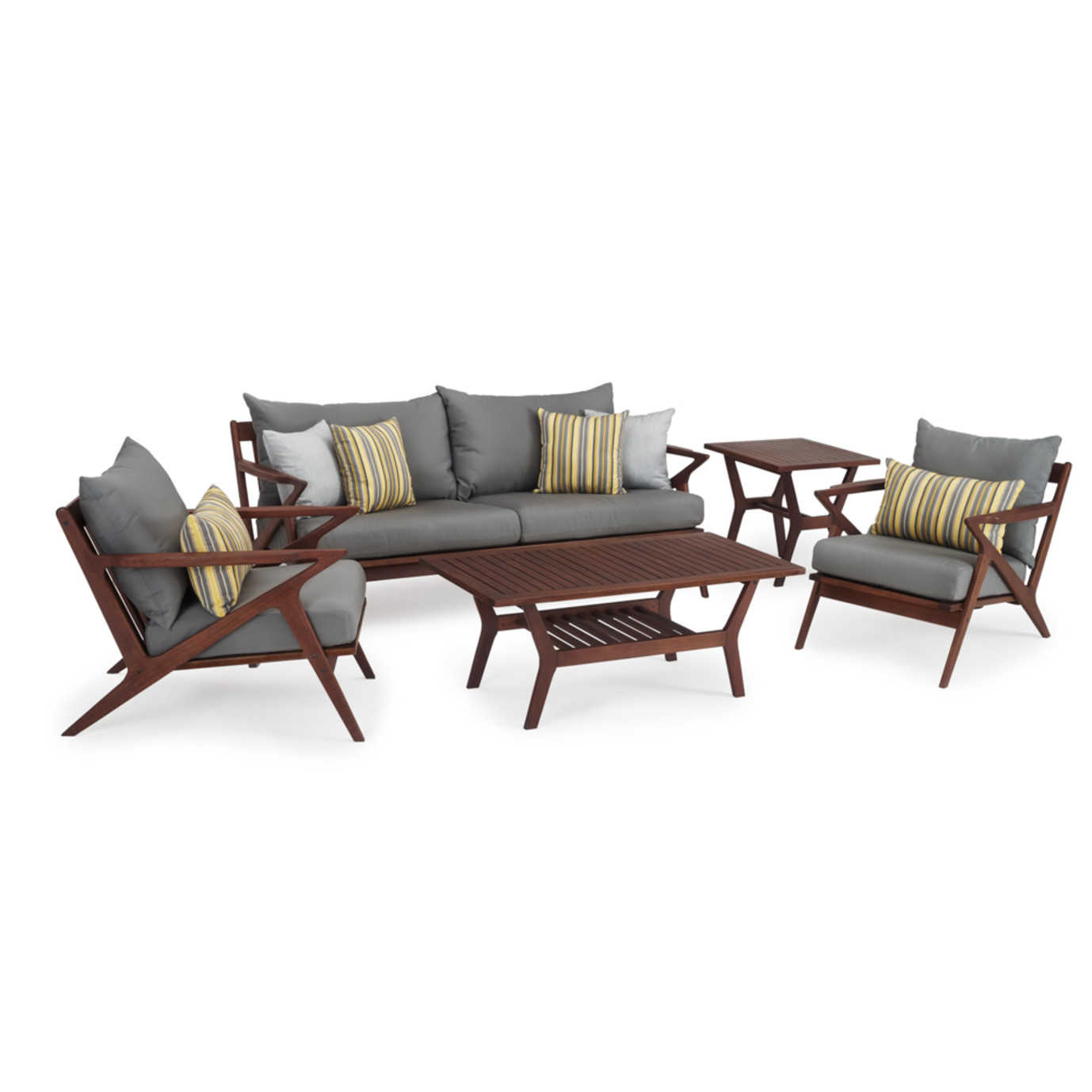Vaughn 5 Piece Seating Set - Charcoal Gray