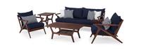 Vaughn™ 5 Piece Seating Set - Navy Blue