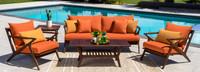 Vaughn™ 5 Piece Seating Set - Tikka Orange