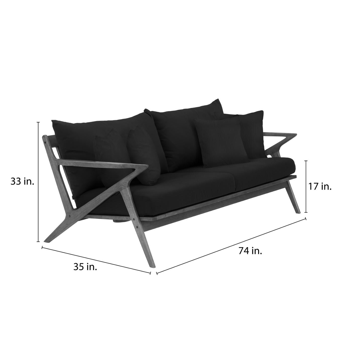 Vaughn 5pc Seating Set - Tikka Orange