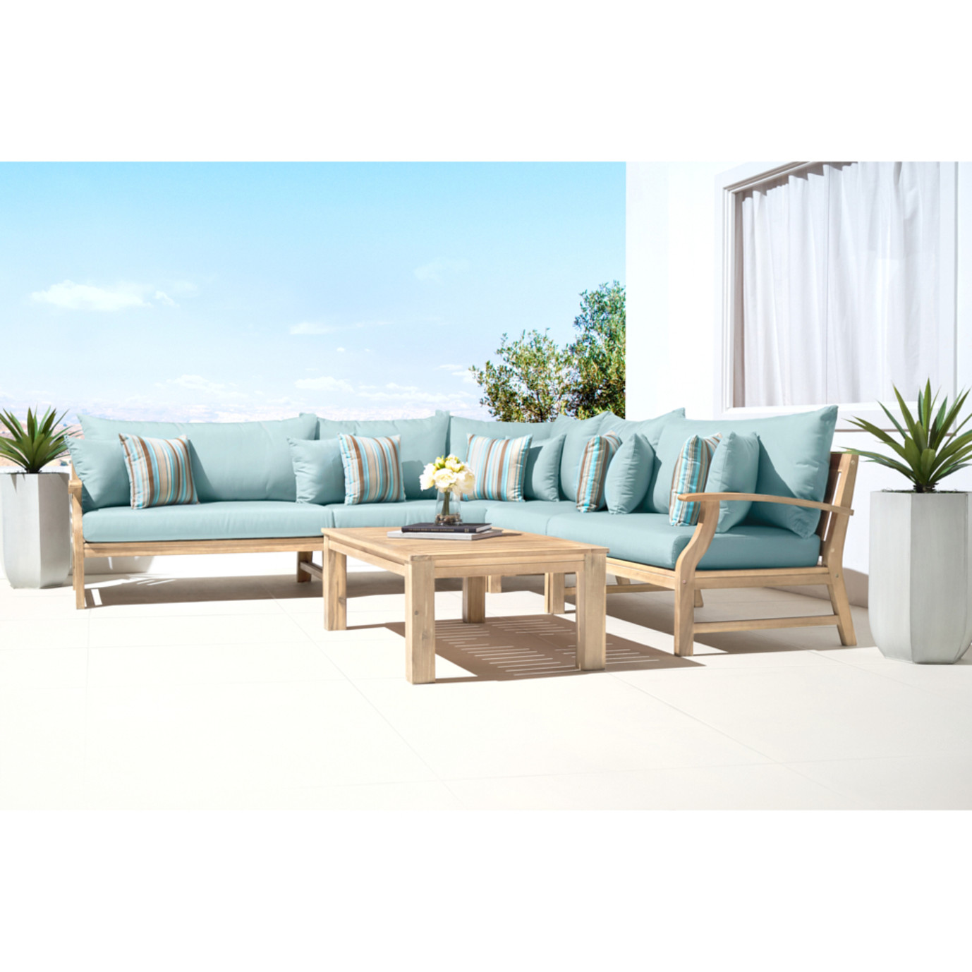 Kooper 6 Piece Sectional - Bliss Blue