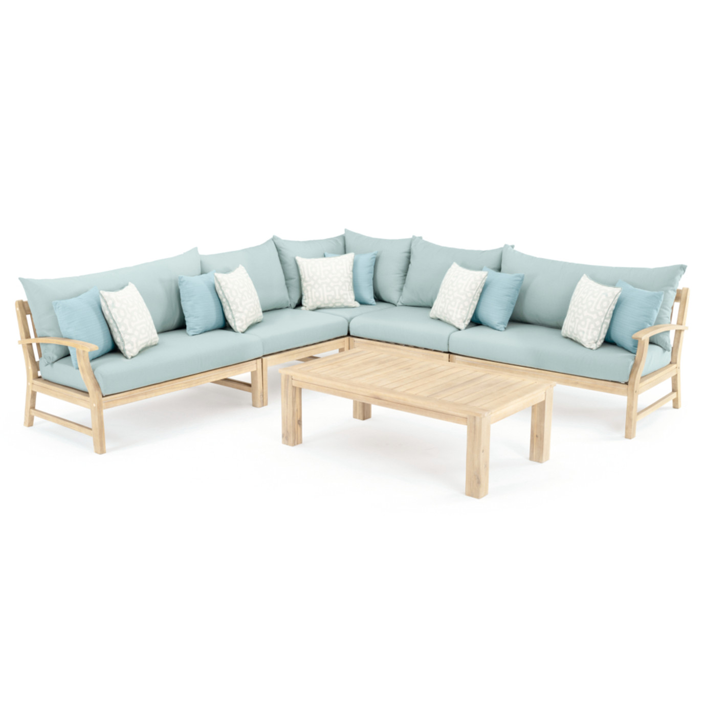 Kooper 6 Piece Sectional - Spa Blue