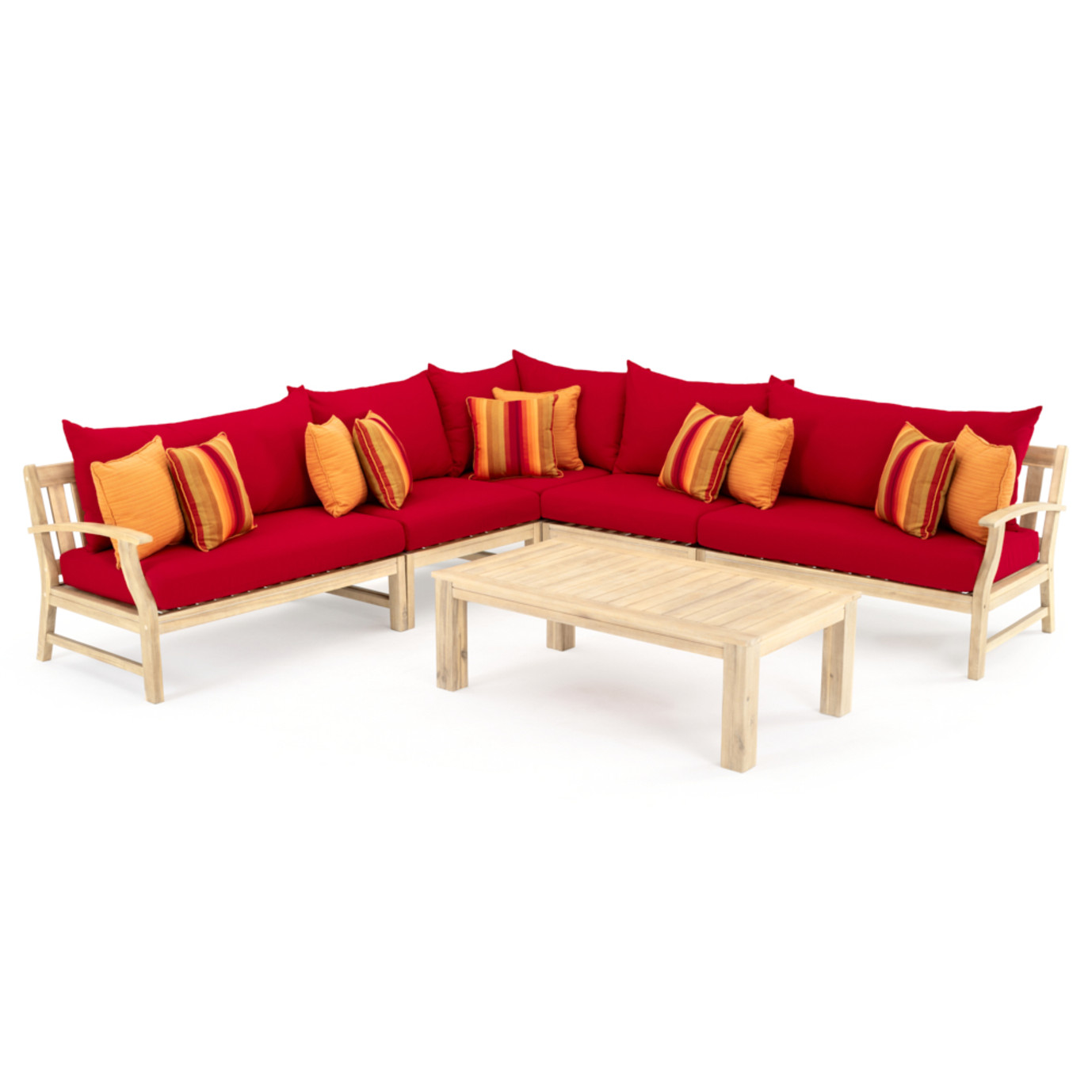 Kooper 6 Piece Sectional - Sunset Red