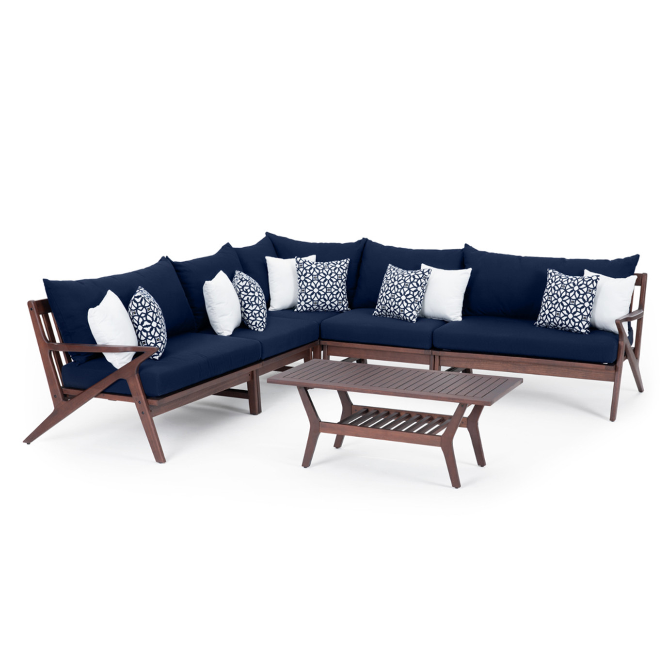 Vaughn 6 Piece Sectional - Navy Blue