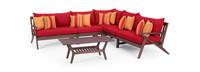 Vaughn™ 6 Piece Sectional - Sunset Red