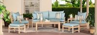 Kooper™ 7 Piece Outdoor Sofa & Club Chair Set - Bliss Blue