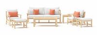Kooper™ 7 Piece Outdoor Sofa & Club Chair Set - Cast Coral