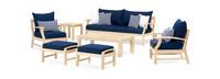 Kooper™ 7 Piece Outdoor Sofa & Club Chair Set - Navy Blue