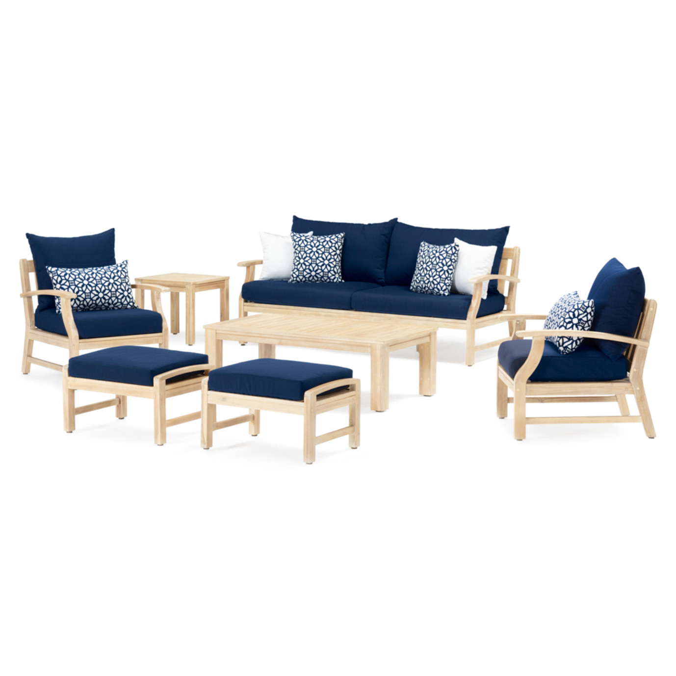Kooper™ 7 Piece Outdoor Sofa & Club Chair Set - Navy Blue