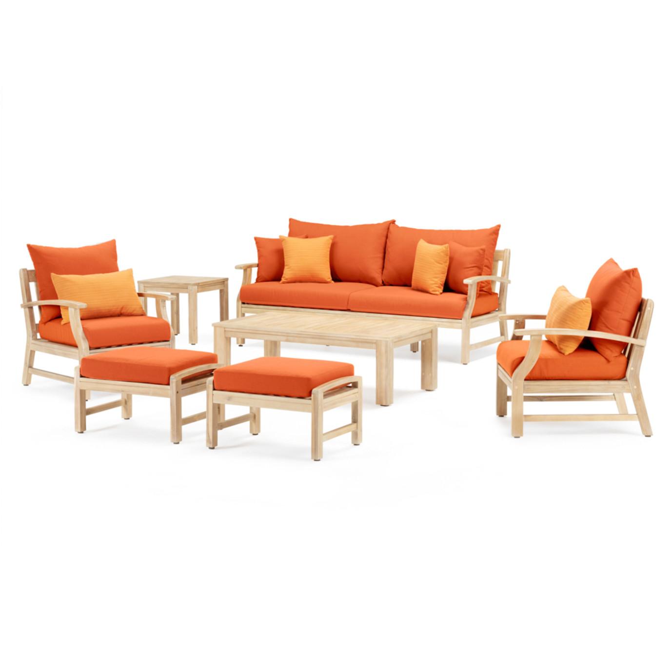 Kooper™ 7 Piece Outdoor Sofa & Club Chair Set - Tikka Orange