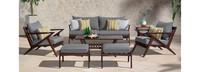 Vaughn™ 7 Piece Sofa & Club Chair Set - Bliss Blue