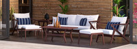 Vaughn™ 7 Piece Sofa & Club Chair Set - Charcoal Gray