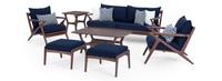 Vaughn™ 7 Piece Sofa & Club Chair Set - Navy Blue
