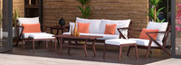 Vaughn™ 7 Piece Sofa & Club Chair Set - Sunset Red
