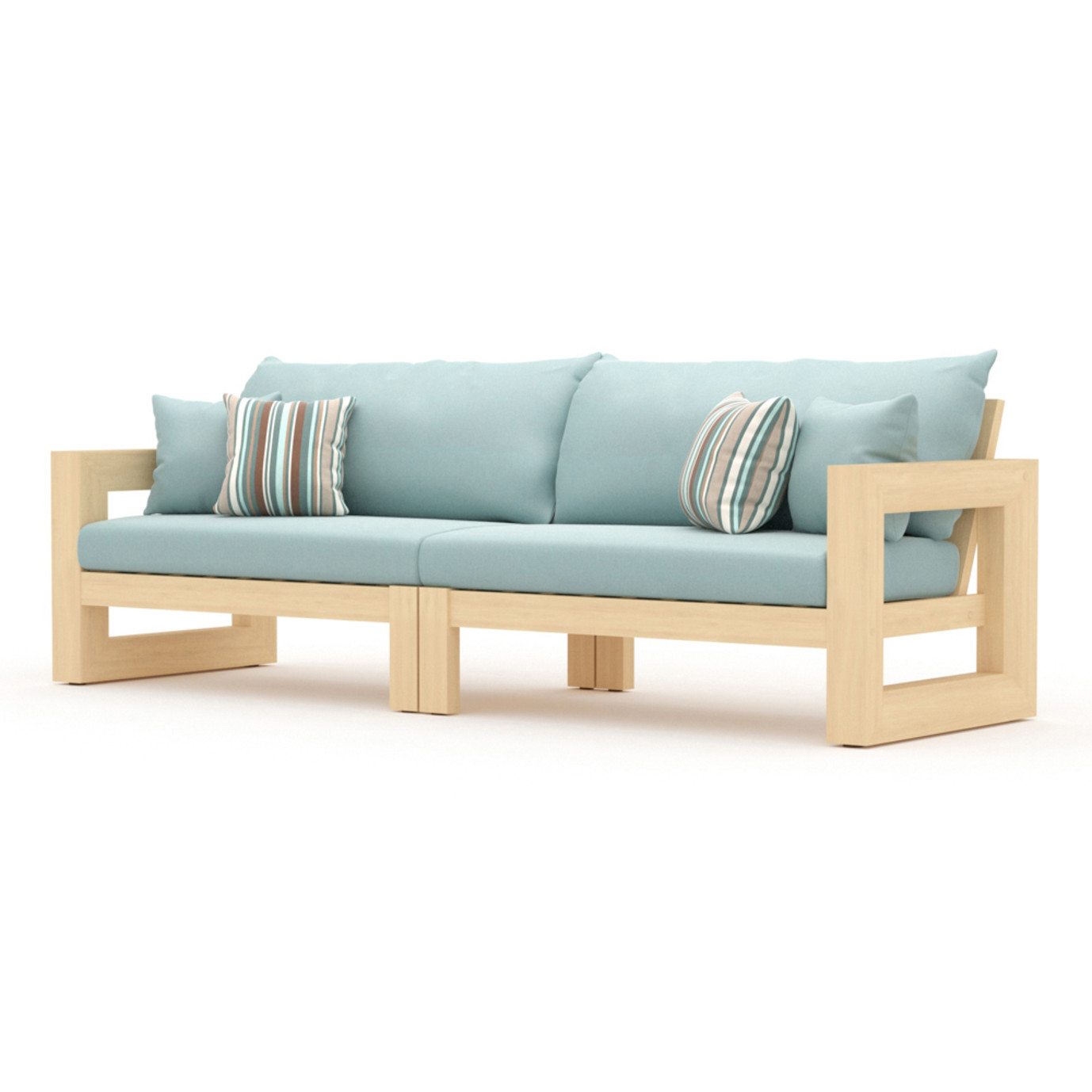 Benson 8 Piece Sofa & Club Chair Set - Bliss Blue