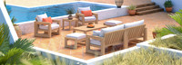 Benson™ 8 Piece Sofa & Club Chair Set - Cast Coral