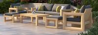 Benson™ 8 Piece Sofa & Club Chair Set - Navy Blue