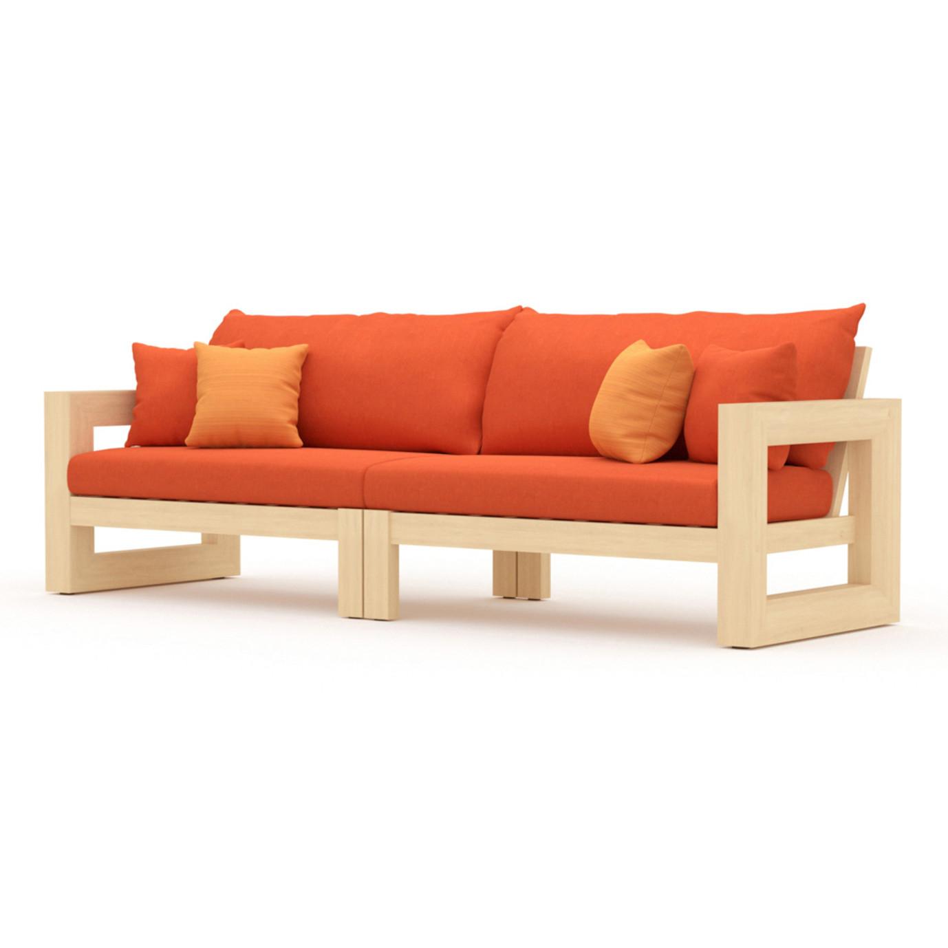 Benson 8 Piece Sofa & Club Chair Set - Tikka Orange