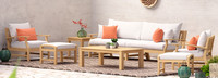 Kooper™ 8 Piece Sofa & Club Chair Set - Cast Coral