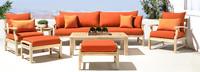 Kooper™ 8 Piece Sofa & Club Chair Set - Navy Blue