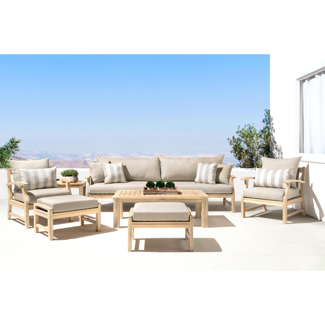Kooper 8 Piece Sofa & Club Chair Set - Slate Gray