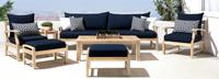Kooper™ 8 Piece Sofa & Club Chair Set - Sunset Red