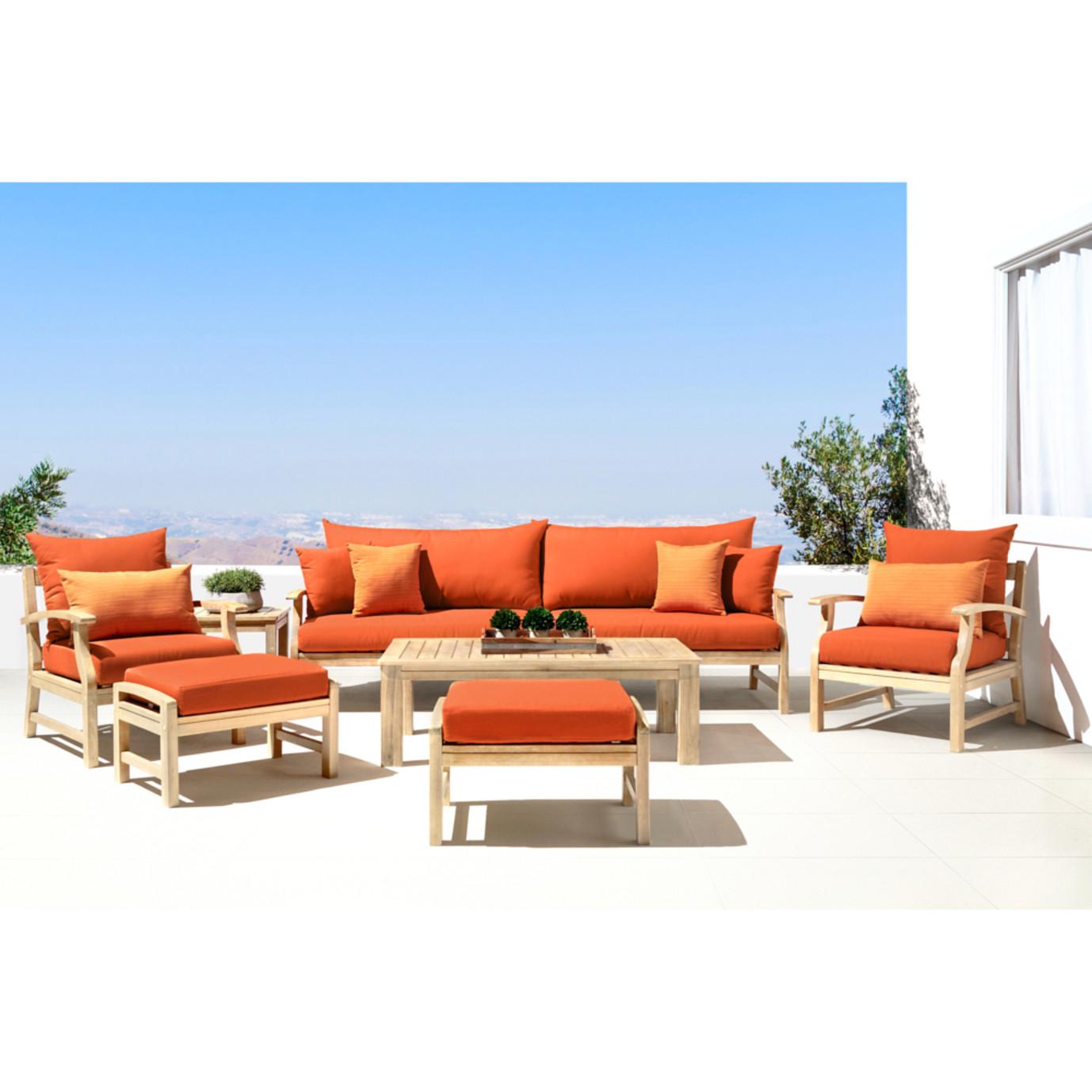 Kooper 8pc Sofa & Club Chair Set - Tikka Orange