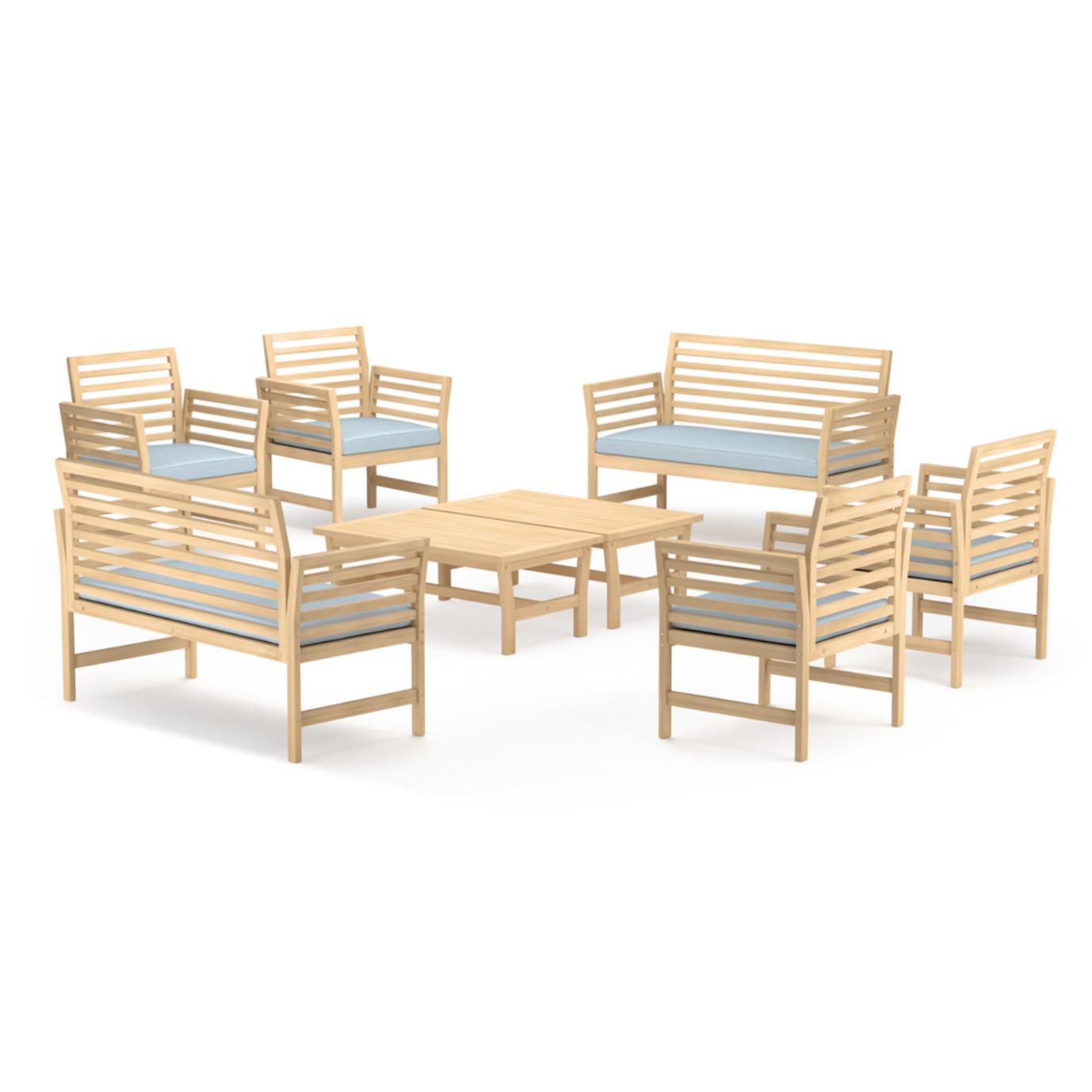 Yuri 8pc Seating Set - Light Blue
