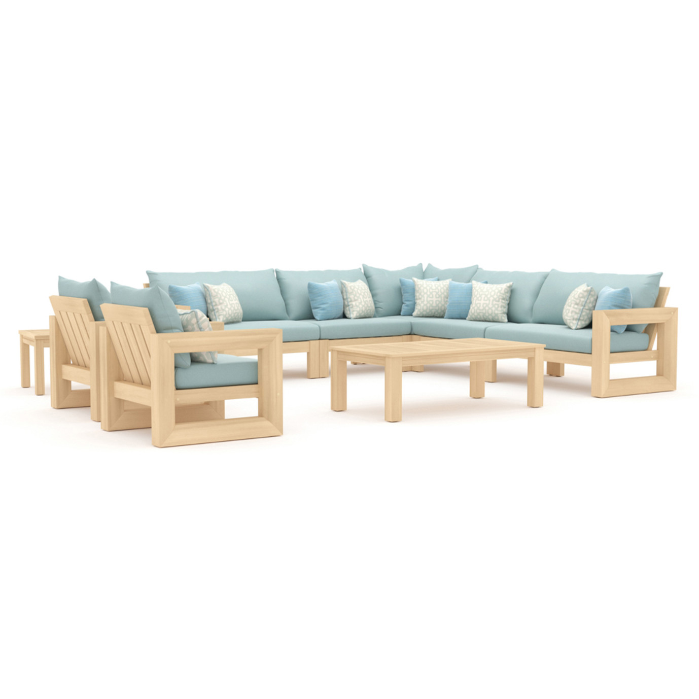 Benson 9pc Seating Set - Spa Blue
