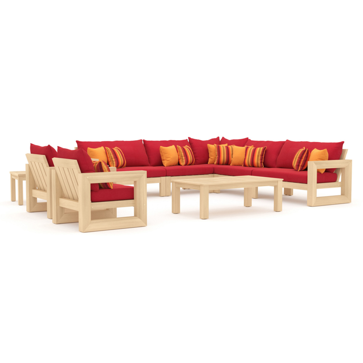 Benson 9pc Seating Set - Sunset Red