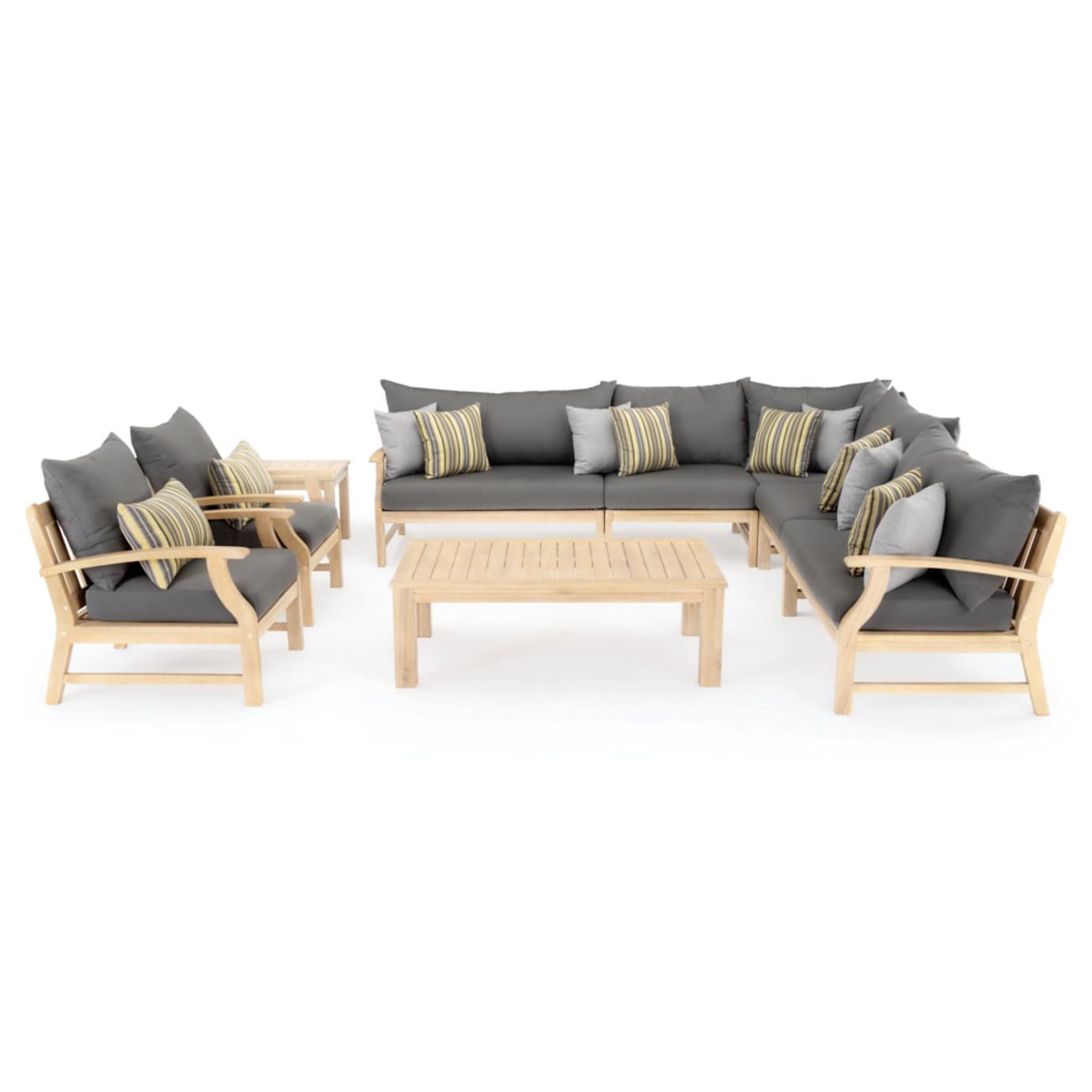 Kooper 9 Piece Seating Set - Charcoal Gray