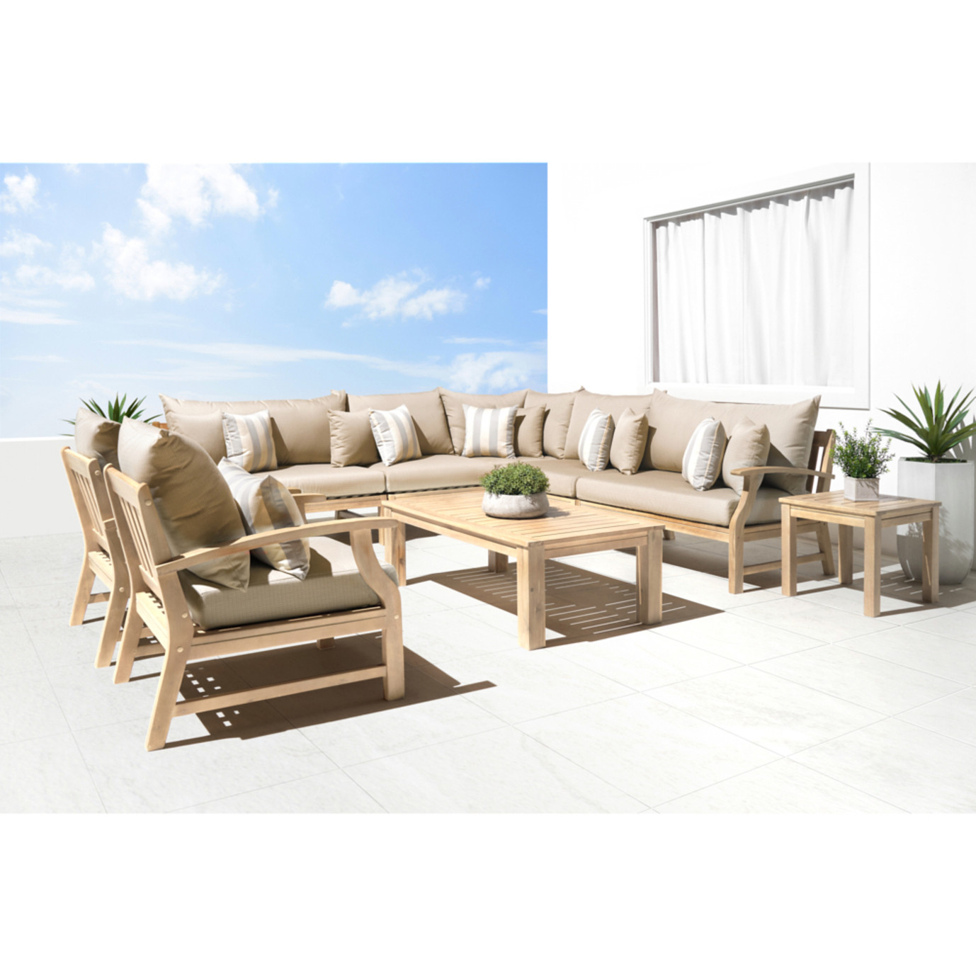 Kooper 9 Piece Seating Set - Slate Gray