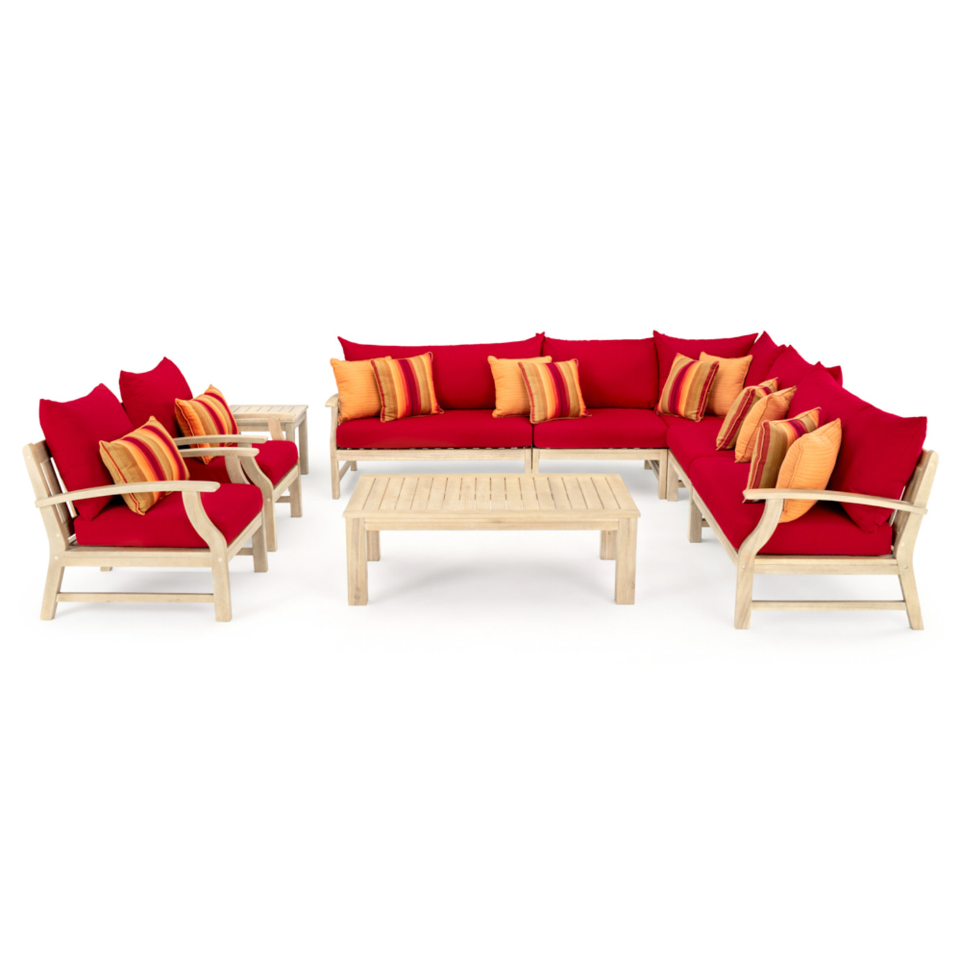 Kooper 9 Piece Seating Set - Sunset Red