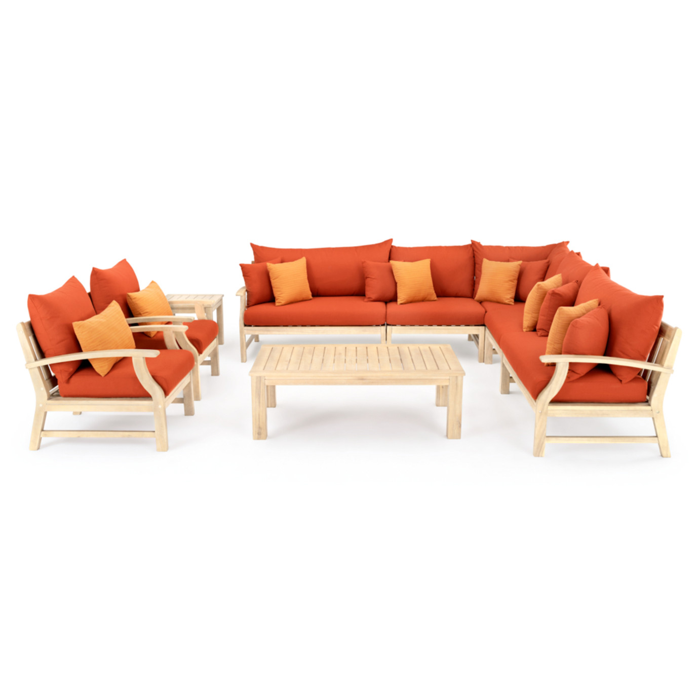 Kooper 9pc Seating Set - Tikka Orange