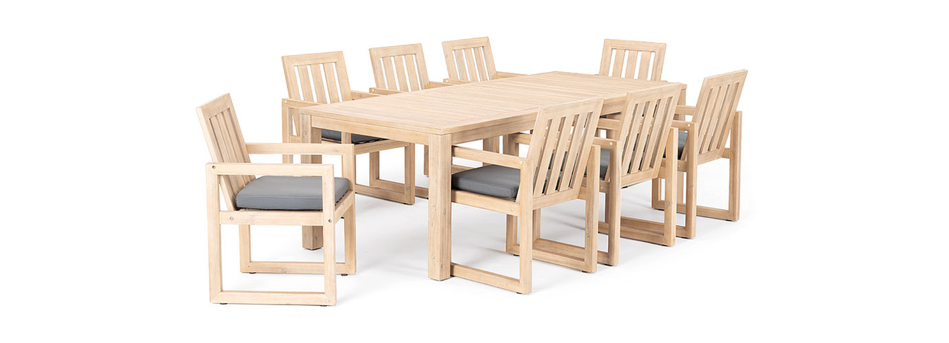 Benson™ 9 Piece Dining Set - Charcoal Gray