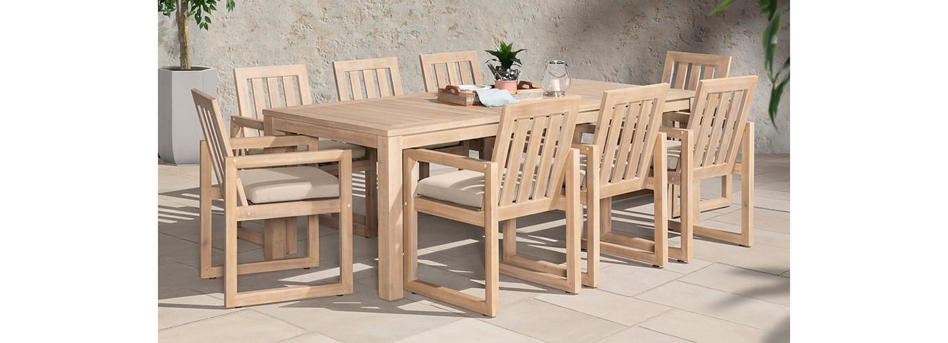 Benson™ 9 Piece Dining Set - Slate Gray