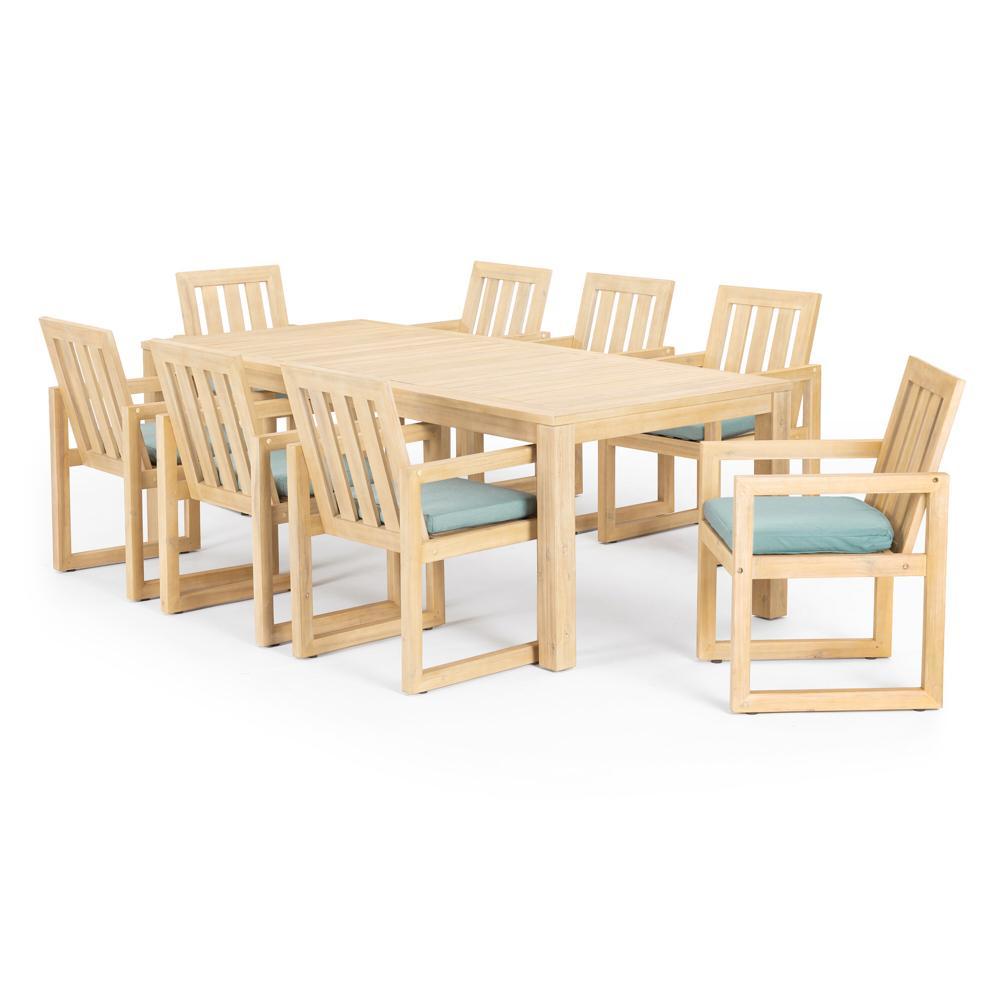 Benson 9 Piece Dining Set - Spa Blue
