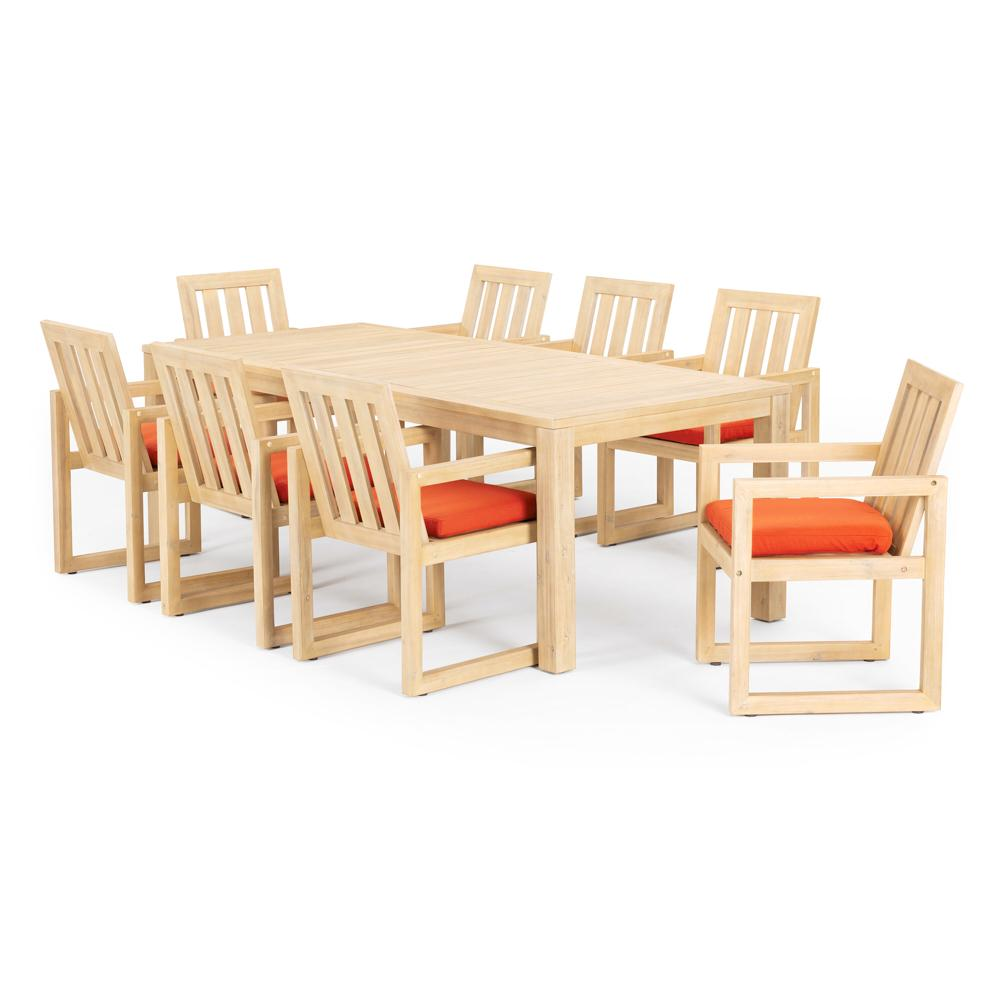Benson 9 Piece Dining Set - Tikka Orange