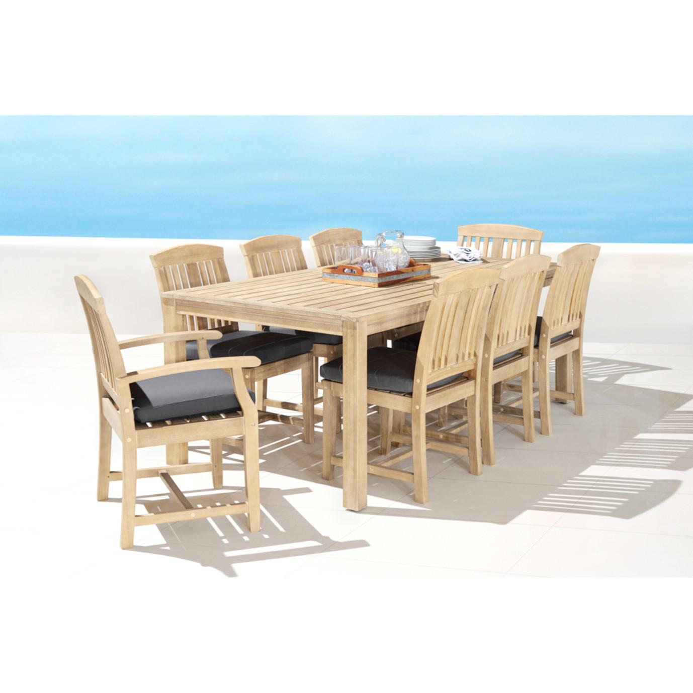 Kooper 9pc Outdoor Dining Set - Charcoal Gray