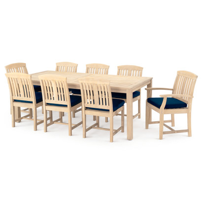 Fantastic Kooper 9 Piece Outdoor Dining Set Navy Blue Cjindustries Chair Design For Home Cjindustriesco