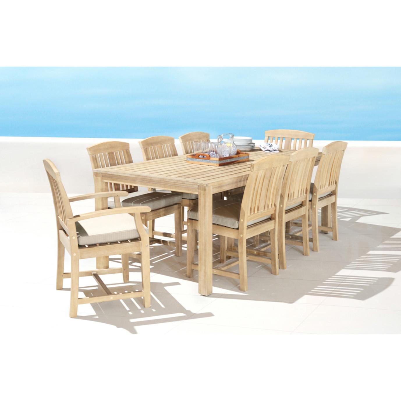 Kooper 9pc Outdoor Dining Set - Slate Gray